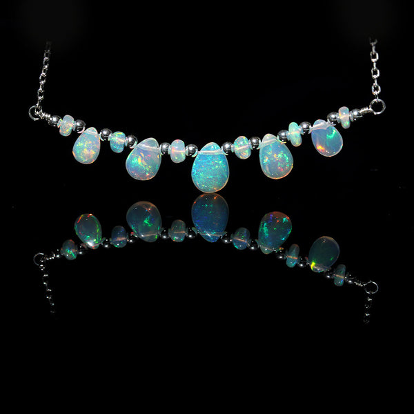 ethiopian opal choker necklace