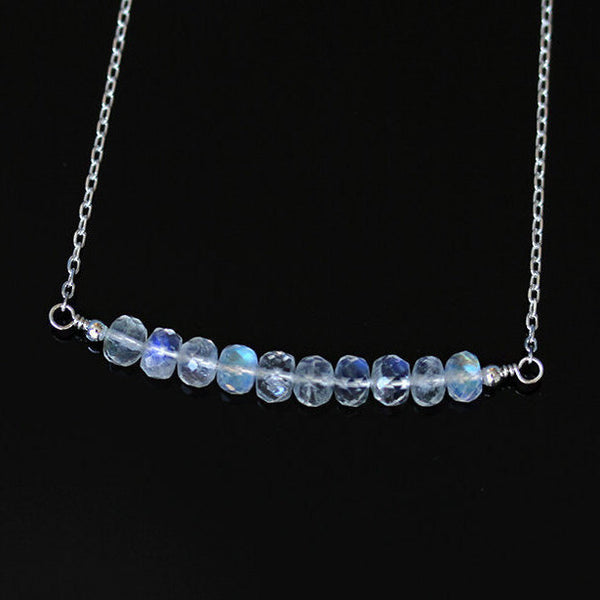 genuine rainbow moonstone necklace