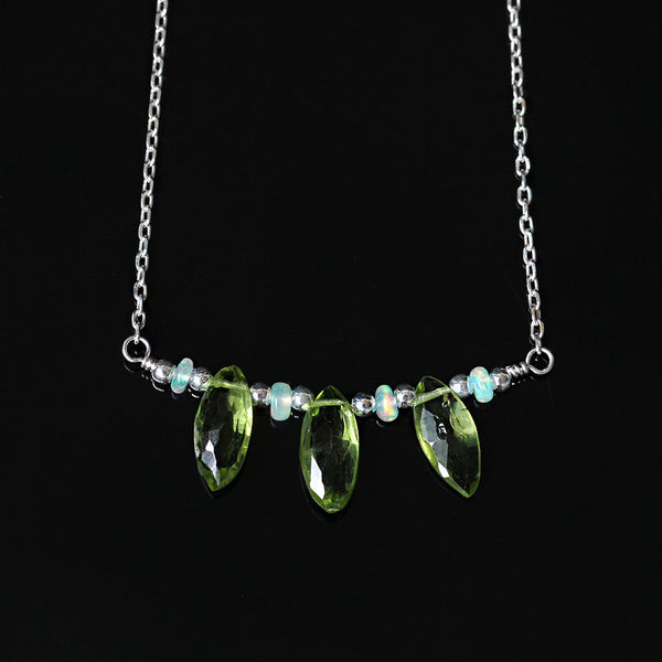 peridot ethiopian opal necklace
