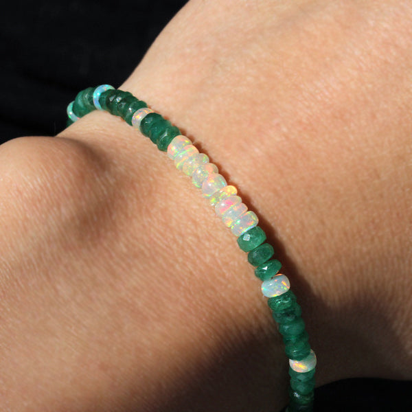 pearlberry jewellery emerald and opal bracelet