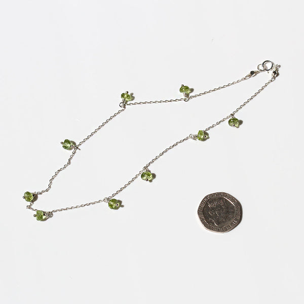 Floating Peridot Necklace