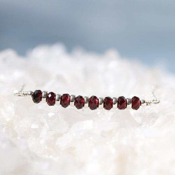 Dainty Red Garnet Necklace