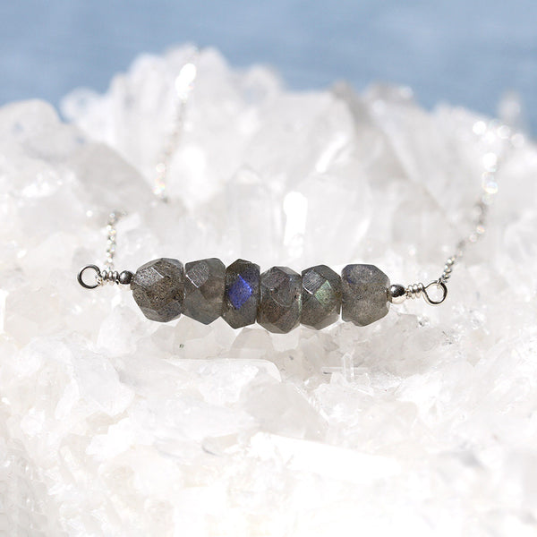 Grey Labradorite Necklace