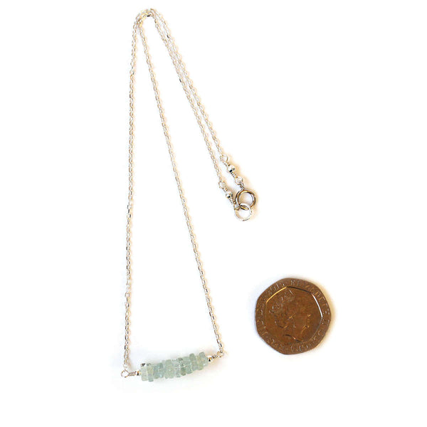 Pale Blue Aquamarine Necklace