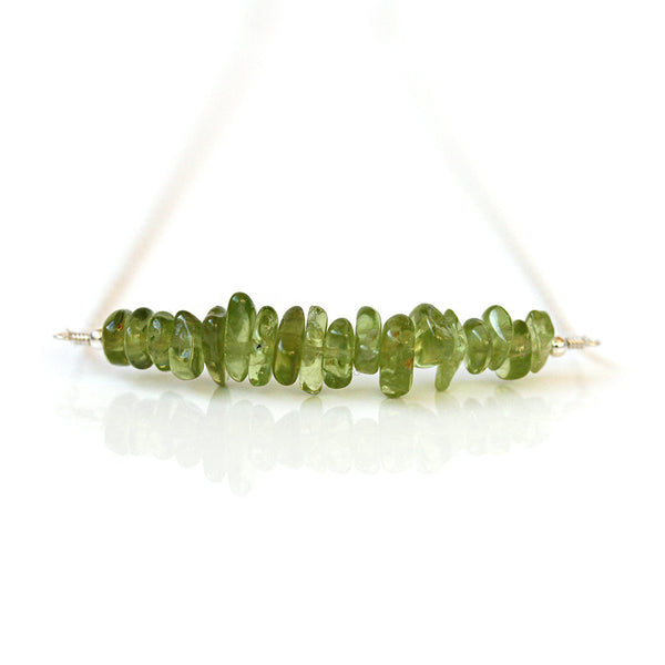 Freeform Peridot Necklace