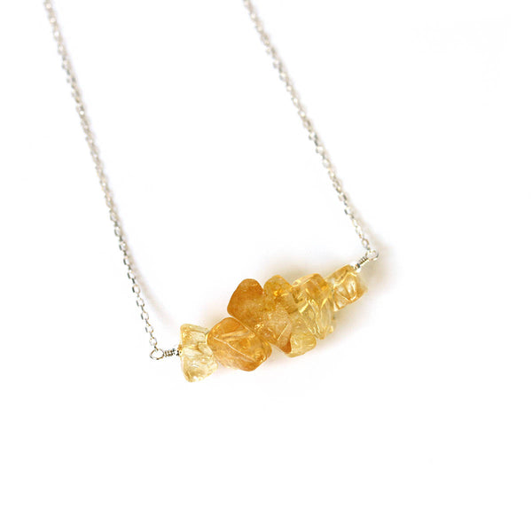 Natural Raw Citrine Necklace