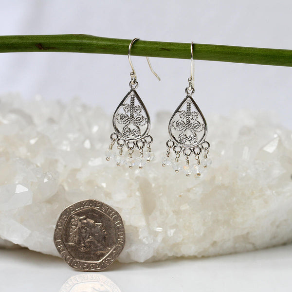 Boho Moonstone Earrings