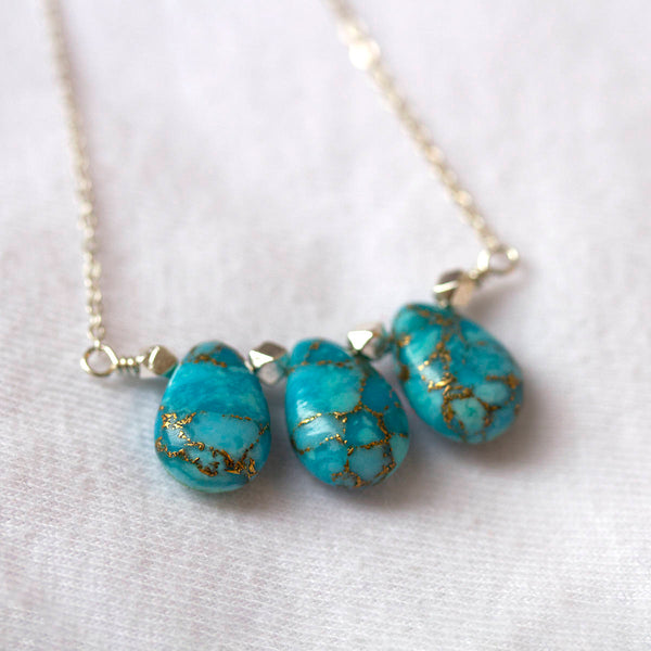 Natural Copper Turquoise Necklace