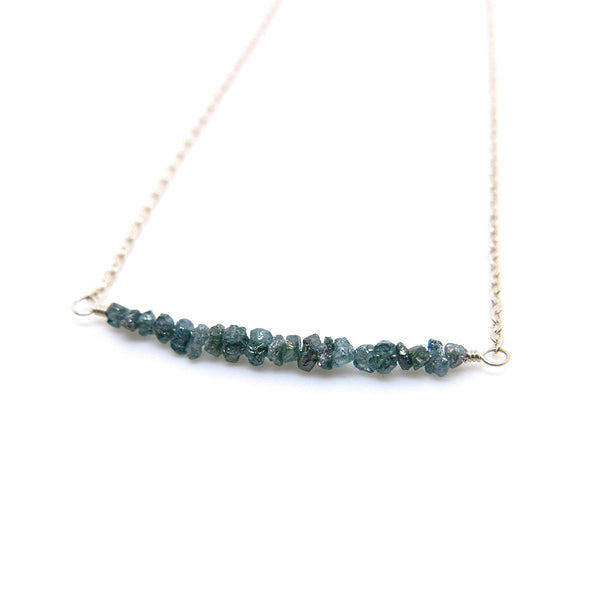 natural blue diamond necklace