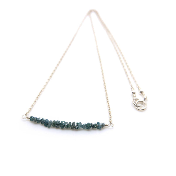 genuine blue diamond necklace