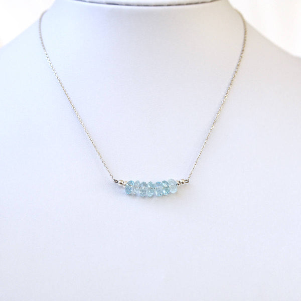 pale blue gemstone necklace