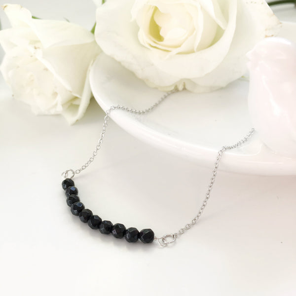 pretty black agate necklace