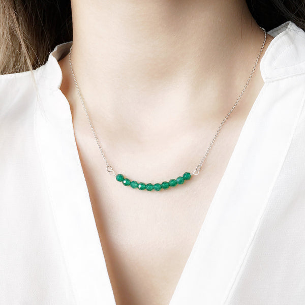 modern necklace green agate