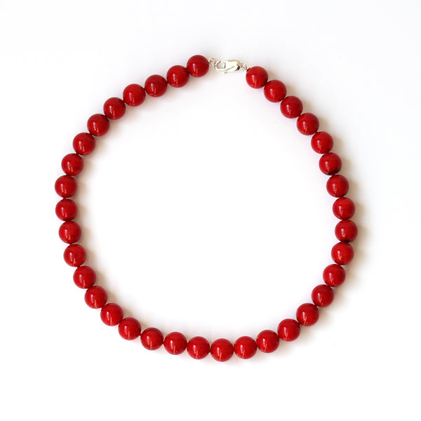 large coral necklace