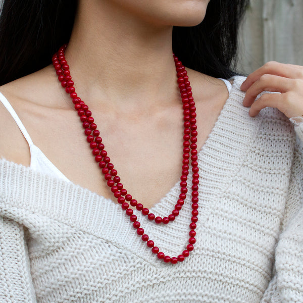 layering necklace coral