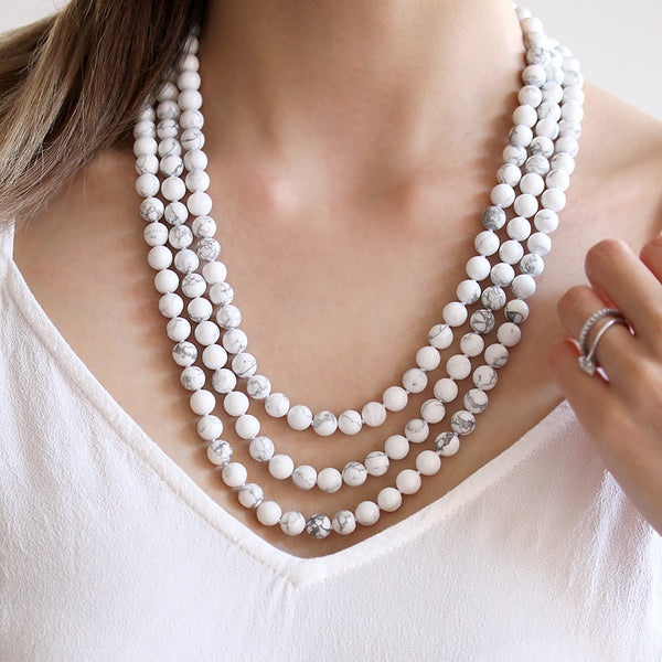 Long Marble Necklace