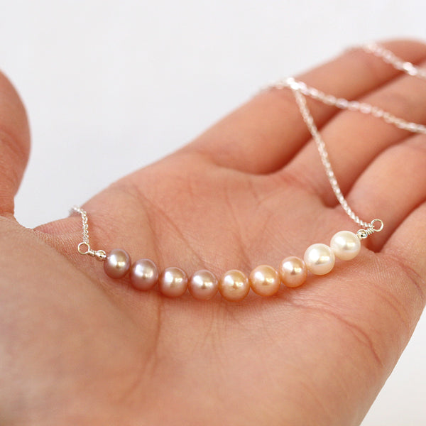 Modern Pearl Bar necklace