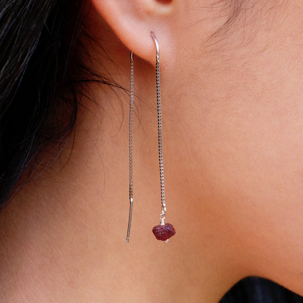 natural garnet earrings pearlberry jewellery