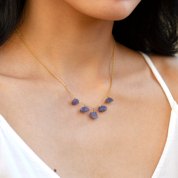 natural tanzanite gemstone necklace