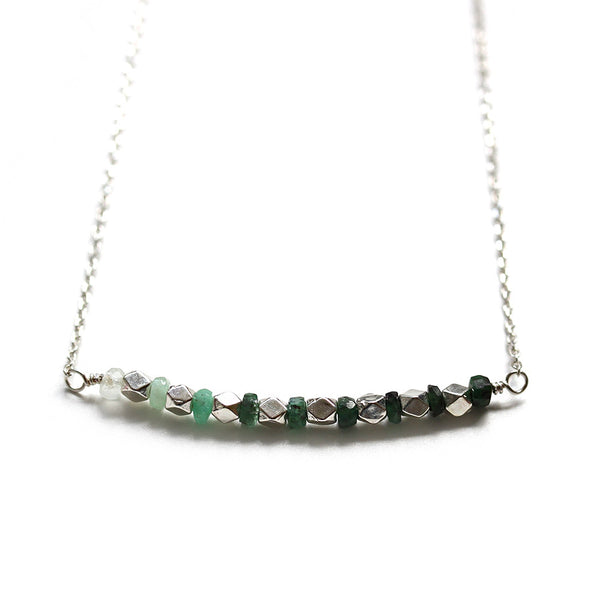 Ombre Green Emerald Necklace