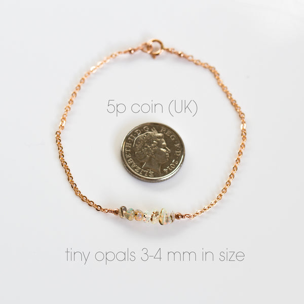 opal bracelet with coin