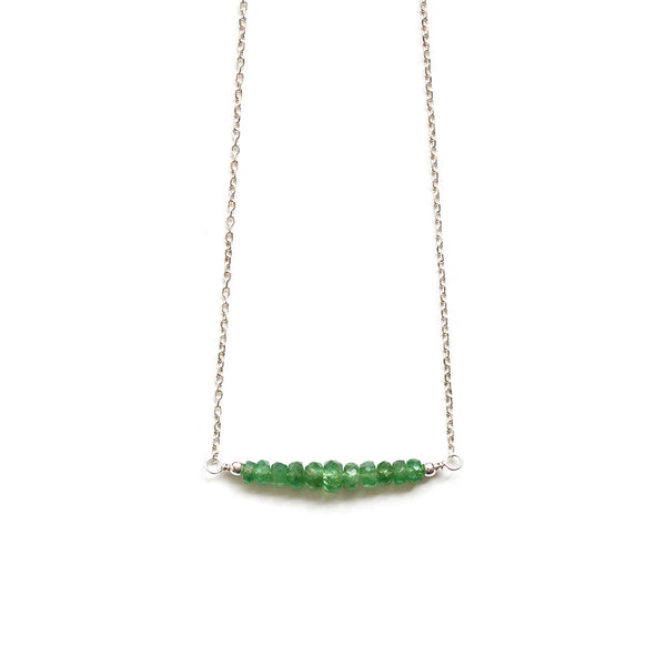 Pearlberry Jewellery Green Garnet Necklace
