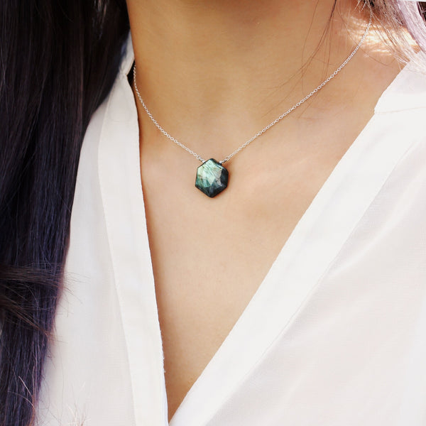 pearlberry labradorite choker necklace