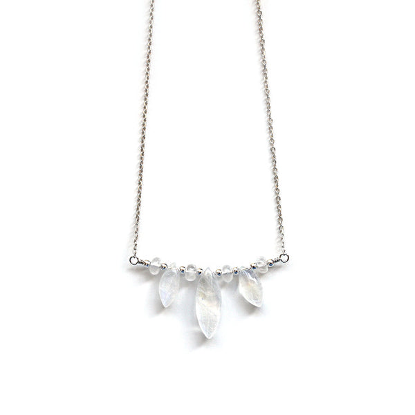 Pearlberry Moonstone Choker Necklace