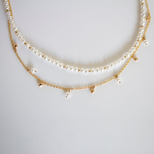 pearlberry pearl necklace gold filled