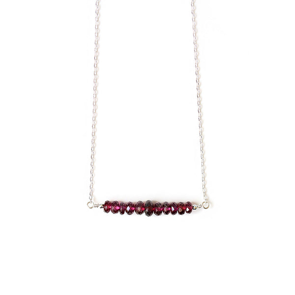 Pearlberry Rhodolite Garnet Necklace