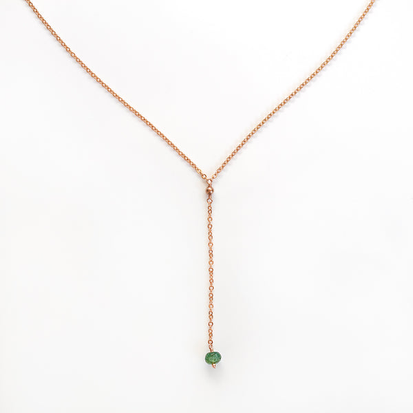 pearlberryjewels y necklace rose gold emerald