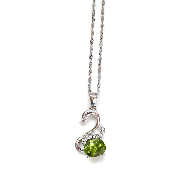 Peridot Swan Necklace