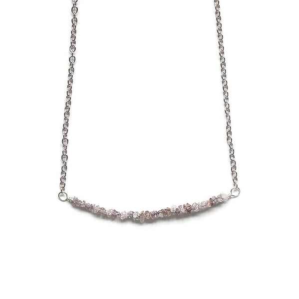 Pink Diamond Necklace Silver