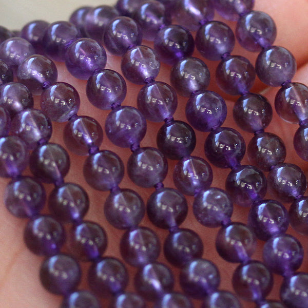 Purple Quartz Necklace Beads