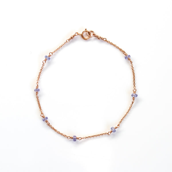 rose gold bracelet tanzanite