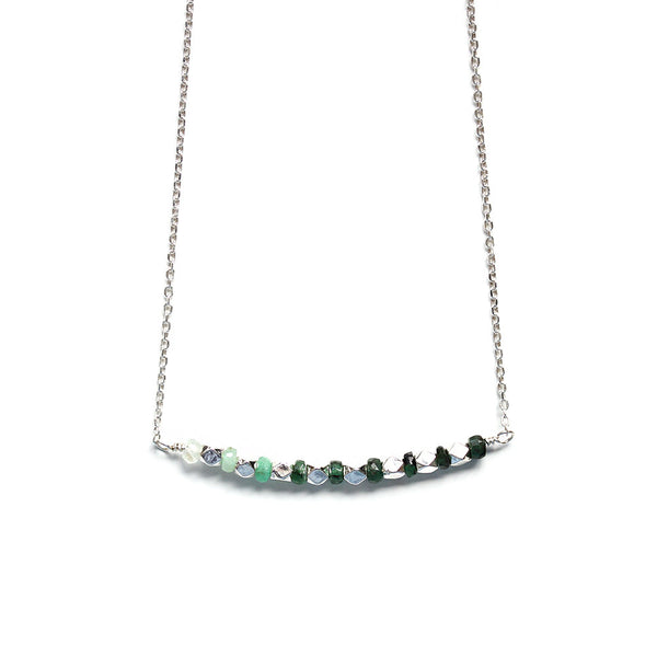 Shaded Emerald Necklace