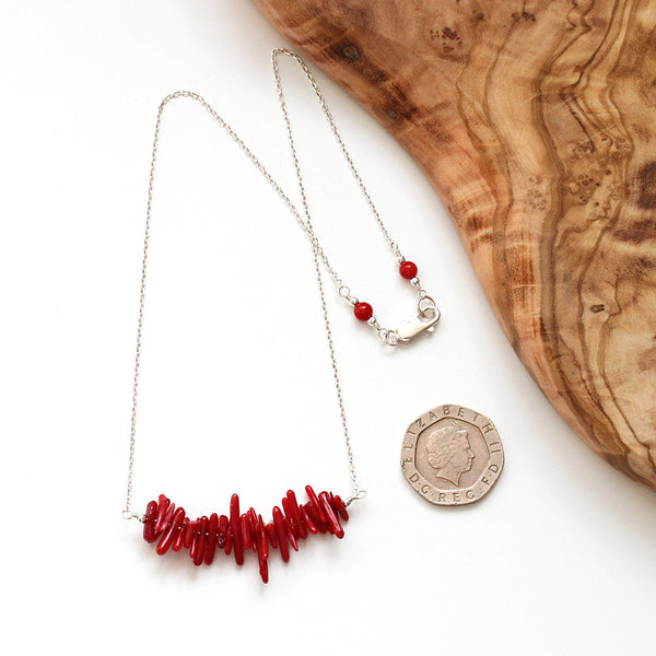 Silver Coral Necklace