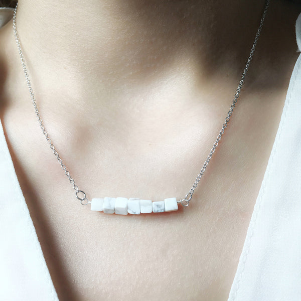 Silver Marble Necklace
