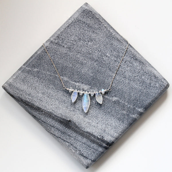 Silver Marquise Necklace