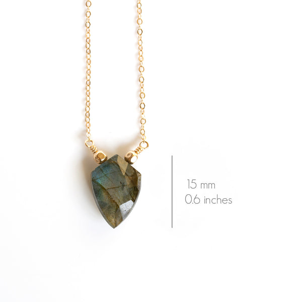 small labradorite necklace