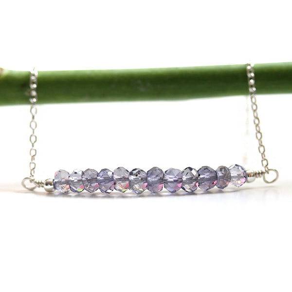 Sterling Silver Handmade Sapphire Necklace