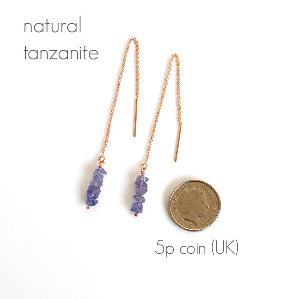 tanzanite earrings measurements