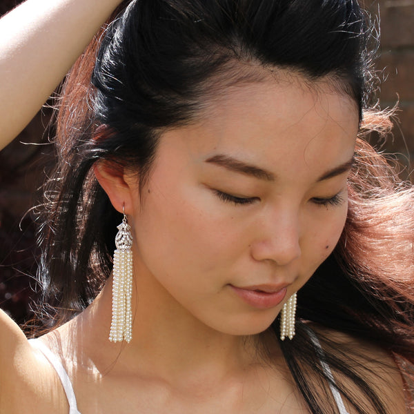tassel earrings pearls