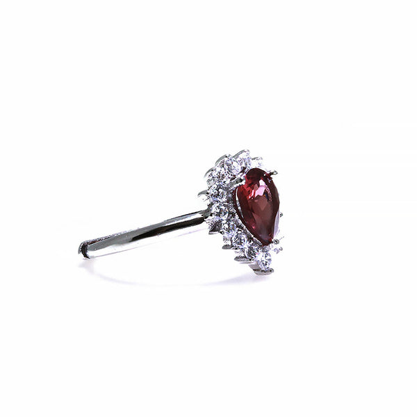 Tourmaline Gemstone Silver Adjustable Ring Pearlberry Jewellery