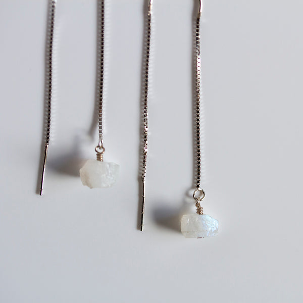 white moonstone earrings uk
