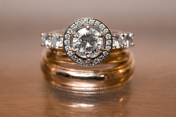 Halo Diamond Engagement Ring by Rubini Jewelers