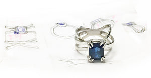 Handmade Multi Layered Platinum Sapphire Ring Project