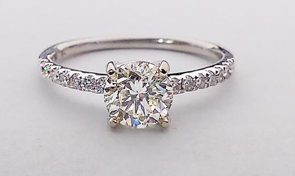 1ct Diamond White Gold Engagement Ring at Rubini Jewelers