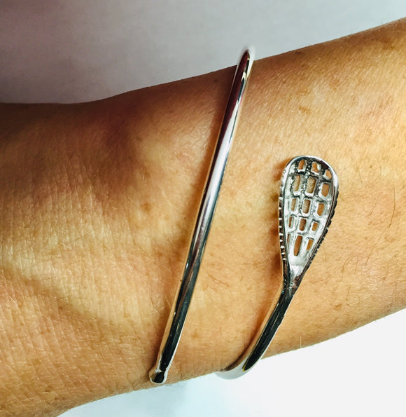 Sterling Silver Lacrosse Stick Wrap Bracelet by Rubini Jewelers