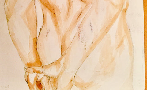 Detail of Hips Nude painting by Joanna Rubini